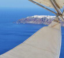 The Aegean Sea in Santorini, Greece and a comfortable spherical seat Sticker