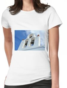 Three church bells from Santorini, Greece Womens Fitted T-Shirt