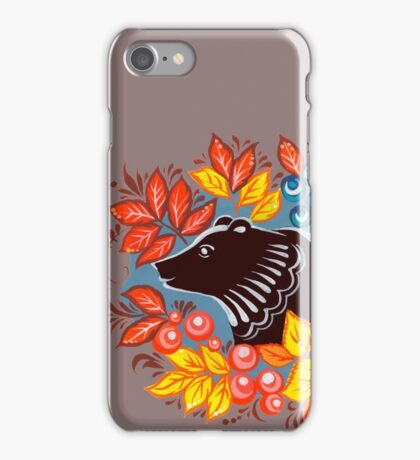 The Bear in autumn forest iPhone Case/Skin