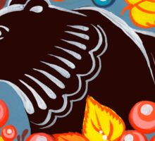 The Bear in autumn forest Sticker