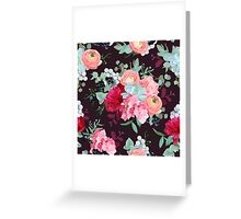 Winter mixed bouquets of peony, ranunculus, succulent, rose, hydrangea, carnation, brunia, blackberries Greeting Card