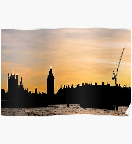 London Sunset - The Spiked City Poster