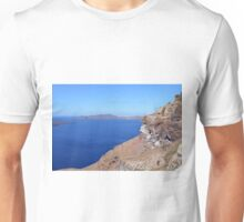The volcanic hills of Santorini, Greece and the Aegean Sea Unisex T-Shirt