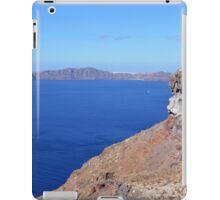 The volcanic hills of Santorini, Greece and the Aegean Sea iPad Case/Skin