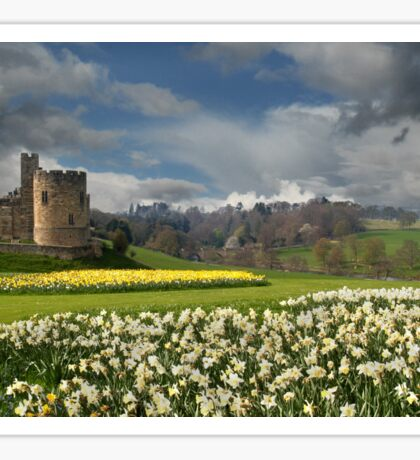 Alnwick Castle in the Spring Sticker