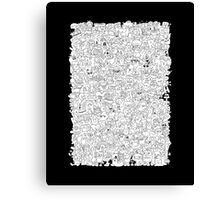Alphabet Soup Black and White Canvas Print