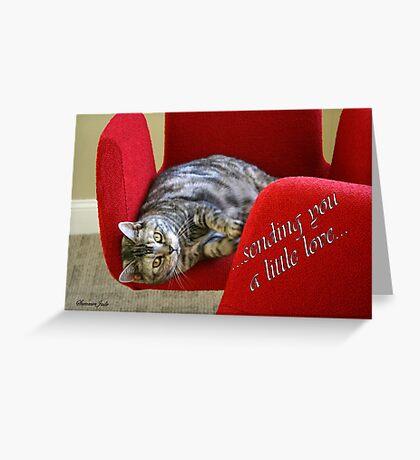 Kitty Cat Sending Love Greeting Card