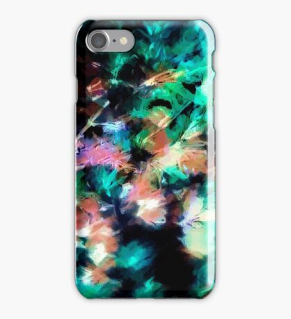 Abstract pattern with watercolor spots iPhone Case/Skin