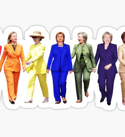 HILLARY CLINTON PANTSUIT QUEEN Sticker