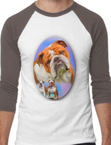 English Bulldog Breed Art Men's Baseball ¾ T-Shirt