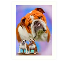 English Bulldog Breed Art Art Print