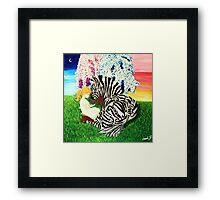 Zebra Hope Framed Print