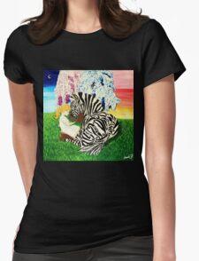 Zebra Hope Womens Fitted T-Shirt