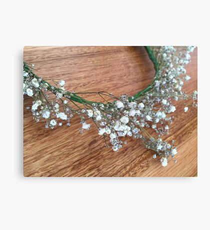 Floral photograph - baby's breath flower crown Canvas Print