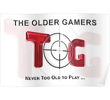 The Older Gamers Logo - Red Poster
