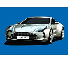Aston Martin One-77 sports car Photographic Print
