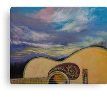 Sunset Guitar Canvas Print