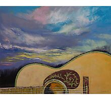 Sunset Guitar Photographic Print