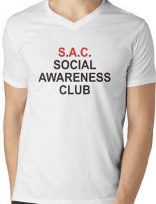 Social Awareness Club Mens V-Neck T-Shirt