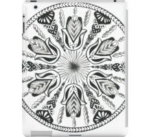 Hamsa Hand Black and White Mandala iPad Case/Skin