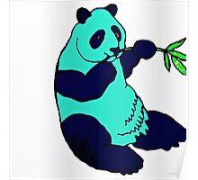 Blue Panda Poster
