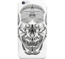 Human Skull Line Art Illustration iPhone Case/Skin