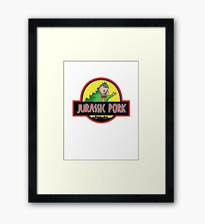 Jurassic Pork Framed Print