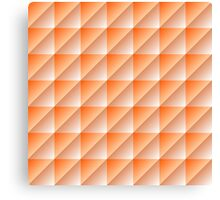 Orange Squares Triangles Abstract Geometric Pattern Canvas Print