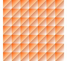 Orange Squares Triangles Abstract Geometric Pattern Photographic Print