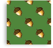 seamless background with hazelnuts Canvas Print