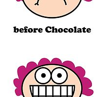 Chocolate - the before and after by Neroli Henderson
