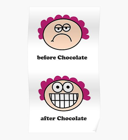 Chocolate - the before and after,neroli henderson,neroli, Poster