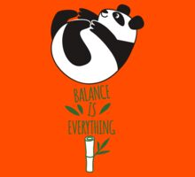 Balance Is Everything! Tumbling panda. Kids Tee