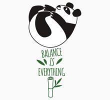 Balance Is Everything! Tumbling panda. Kids Clothes