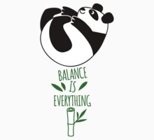 Balance Is Everything! Tumbling panda. Baby Tee