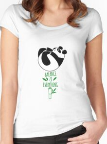 Balance Is Everything! Tumbling panda. Women's Fitted Scoop T-Shirt