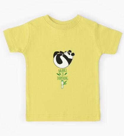 Balance Is Everything! Tumbling panda. Kids Tee