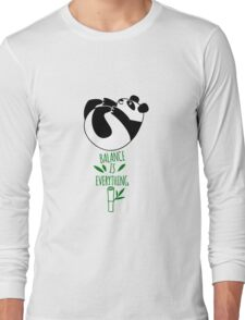 Balance Is Everything! Tumbling panda. Long Sleeve T-Shirt