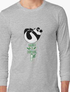 Balance Is Everything! Tumbling panda. Long Sleeve T-Shirt
