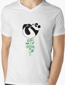 Balance Is Everything! Tumbling panda. Mens V-Neck T-Shirt