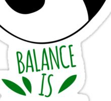 Balance Is Everything! Tumbling panda. Sticker