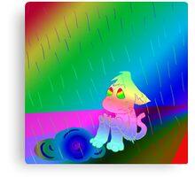 RR Rainbow Rain Canvas Print