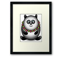 Panda traveler isolated character Framed Print
