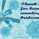 Thank you card for a bridesmaid  by Ann12art