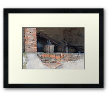 old wine barrel Framed Print