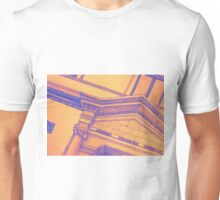 Drawing illustration of building detail of classical entrance  Unisex T-Shirt