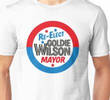 Back to the Future 'Re-Elect Mayor Goldie Wilson' design Unisex T-Shirt