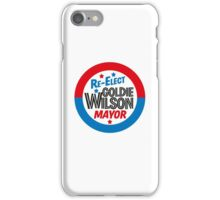 Back to the Future 'Re-Elect Mayor Goldie Wilson' design iPhone Case/Skin