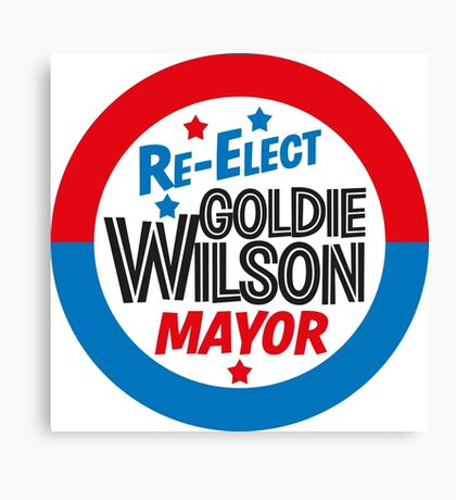 Back to the Future 'Re-Elect Mayor Goldie Wilson' design Canvas Print