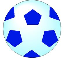 Blue Soccer Ball by kwg2200